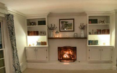 Fireplace Facelift in Mill Glen